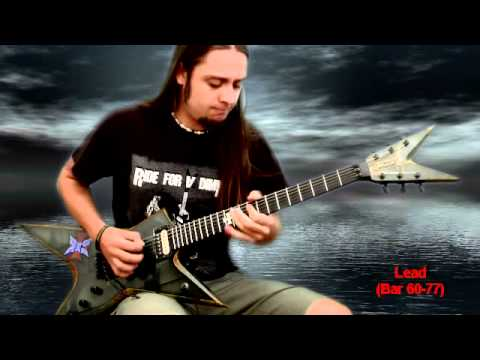 Attila Voros - GMC instructional video - PanterA Floods solo and outro section - cover