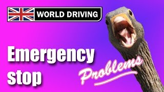 Reasons for failing a driving test: emergency stop