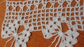 getlinkyoutube.com-Crochet Orilla de Mariposas (butterfly crochet)