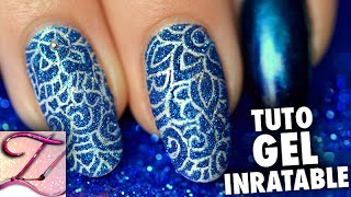 getlinkyoutube.com-Tuto nail art inratable avec le gel et paillettes