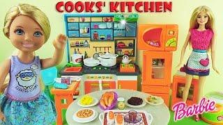 getlinkyoutube.com-Барби повар Кухня для кукол Мультик для девочек Играем и готовим с Челси Barbie Cooks' Kitchen