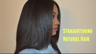 getlinkyoutube.com-Natural Hair: Curly to Straight Hair Routine