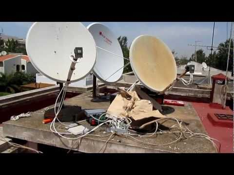 INSTALLATION Astra 19° HotBIRD  13°...avec une parabole 1.40m GOLDVISION et  DREAM BOX