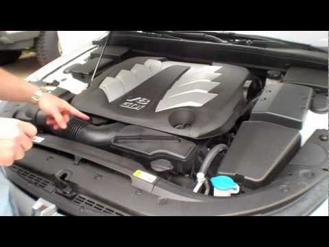 Где находится фильтр двигателя в Genesis G80