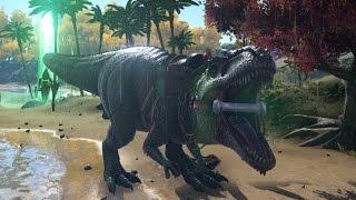 getlinkyoutube.com-ARK:SE|  Mini |  Alpha Rex vs Giganotosaurus