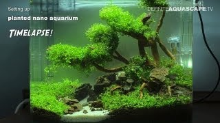 getlinkyoutube.com-Setting up planted nano aquarium - timelapse