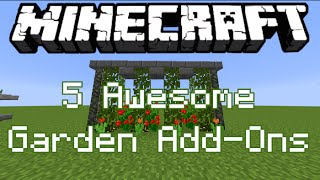 getlinkyoutube.com-5 Awesome Garden Add Ons! - Minecraft Tutorial