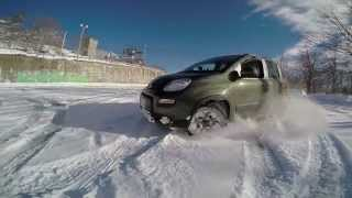 getlinkyoutube.com-Fiat Panda 4x4 MJT sulla neve