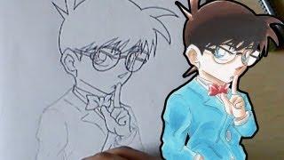 getlinkyoutube.com-Let´s Draw Conan Edogawa