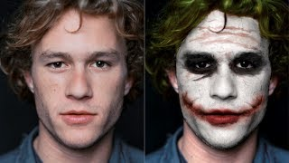 getlinkyoutube.com-Heath Ledger to Joker Transformation with Photoshop