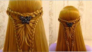 Прическа в школу с плетением.Easy back to school hairstyles for long hair