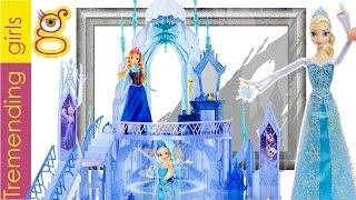 getlinkyoutube.com-Palacio Mágico de Hielo y Muñeca Elsa Magia de Hielo -  Castillo Reino de hielo - Juguetes Frozen