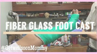 FIBER GLASS FOOT CAST ASMR