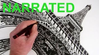getlinkyoutube.com-How to Draw The Eiffel Tower: Narrated Step by Step