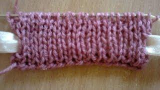 getlinkyoutube.com-Двойная резинка (вязание на спицах). Double Gum (knitting).