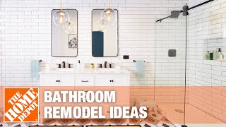 A video reviews different ideas for remodeling bathrooms.