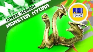getlinkyoutube.com-Green Screen Mythological Monster Hydra - Footage PixelBoom