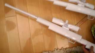 getlinkyoutube.com-How to make a Paper Sniper Rifle that Shoots Tutorial Easy