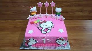 Tanpa Spuit! Cara Membuat Kue Ulang Tahun Hello Kitty Cake Tart Sederhana