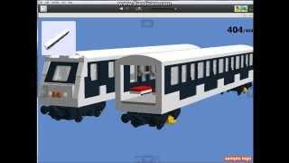 getlinkyoutube.com-LEGO Digital Designer - Hungarian M4 Metro (Alstom)
