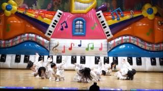 getlinkyoutube.com-미래연어린이집 치어리더 cheerleading performance of 7age children from Korea (Mix of 3 k-pop songs)