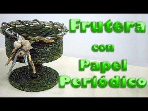 FRUTERA CON PAPEL PERIÓDICO