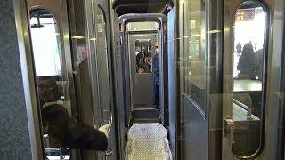 getlinkyoutube.com-小田急電鉄 車内から連結の様子を撮影 連結 増結 特急ロマンスカー30000形EXE