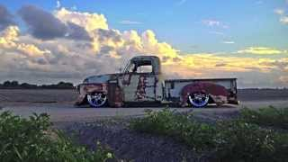 "getlinkyoutube.com-Air Ride Patina Truck, Bagged, ""Demo"" Sickest Ride"