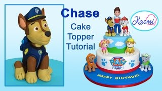 getlinkyoutube.com-Paw Patrol (Cake Topper): Chase / Patrulla de cachorros: Cómo hacer a Chase