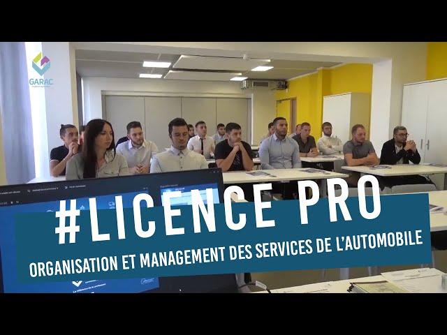 Enseignement supérieur au GARAC : Licence OMSA
