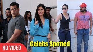 Salman Khan, Katrina Kaif, Sanjay Dutt, Kareena Kapoor Spotted | Bharat | Salman Khan Craziness