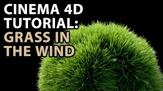 getlinkyoutube.com-Cinema 4D Tutorial: Grass in the Wind Tutorial
