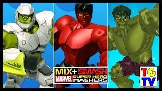 getlinkyoutube.com-Marvel Super Hero Mashers Hulk, Red Hulk, Smash Hulk | Mix+Smash