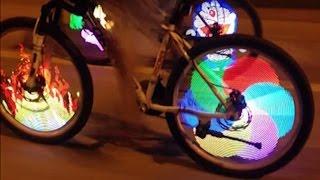getlinkyoutube.com-Tutorial on Installation of Bicycle Tire Spoke LED Light Bike Wheel Led Signal Light - TVC Mall