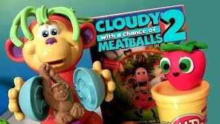 getlinkyoutube.com-Play-Doh Coco Nutty Monkey DVD Blu-Ray Review PlayDough Macaquinho Maluco Tacos & Strawberry