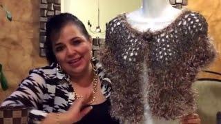 getlinkyoutube.com-Torerito Londrés - Tejido Fácil con gancho y dedos -Tejiendo con Laura Cepeda
