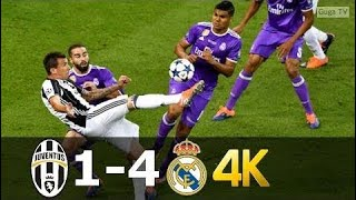 Juventus Vs Real Madrid 1 4   UHD 4k UCL Final 2017   Full Highlights (English Commentary) |❤