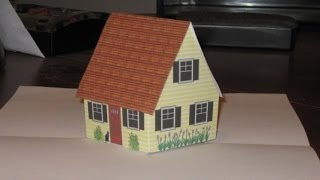 getlinkyoutube.com-Make pop up cottage card with narration, also gingerbread house.