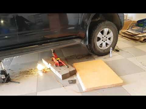 Замена рамных подушек Nissan Pathfinder R51