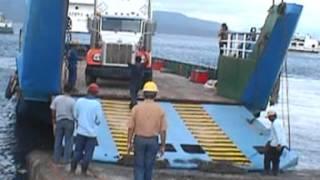 baker atlas logging truck in banyuwangi harbour