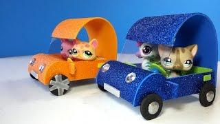 getlinkyoutube.com-DIY LPS Doll Car