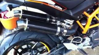 getlinkyoutube.com-KTM DUKE 125 WITH TWIN motor GP carbon fibre  SOUND 2