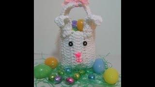 getlinkyoutube.com-Aprenda a tejer Bolsita de conejo para dia de Pascua hecho en Crochet/Ganchillo