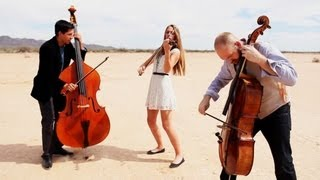 getlinkyoutube.com-Rolling in the Deep - Adele (violin/cello/bass cover) - Simply Three