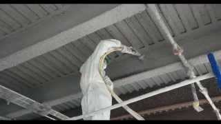 getlinkyoutube.com-Incredible In Your Face HD Video of Fire Proofing with Grace Monokote Fireproofing