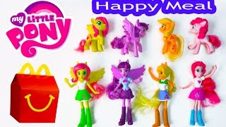 getlinkyoutube.com-MLP McDonalds Happy Meal Toys 2015 My Little Pony Equestria Girls Toys Video Princess Twilight Dolls