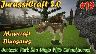 getlinkyoutube.com-Minecraft Dinosaurs JurassiCraft 2.0 Ep19 Jurassic Park San Diego Pt14 Carnotaurus
