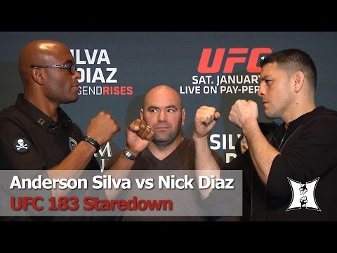 UFC 183: Anderson Silva and Nick Diaz Staredown