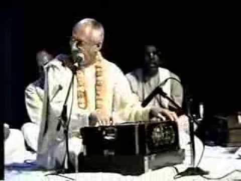 His Grace Vyasaki prabhu In maritius for Iskcon silver Jubilee 2000