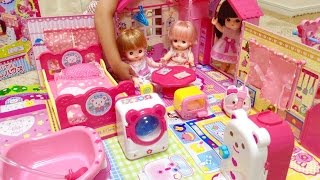 getlinkyoutube.com-メルちゃん みんなおいでよ!なかよしハウス / Mell chan , Baby Doll House Toy